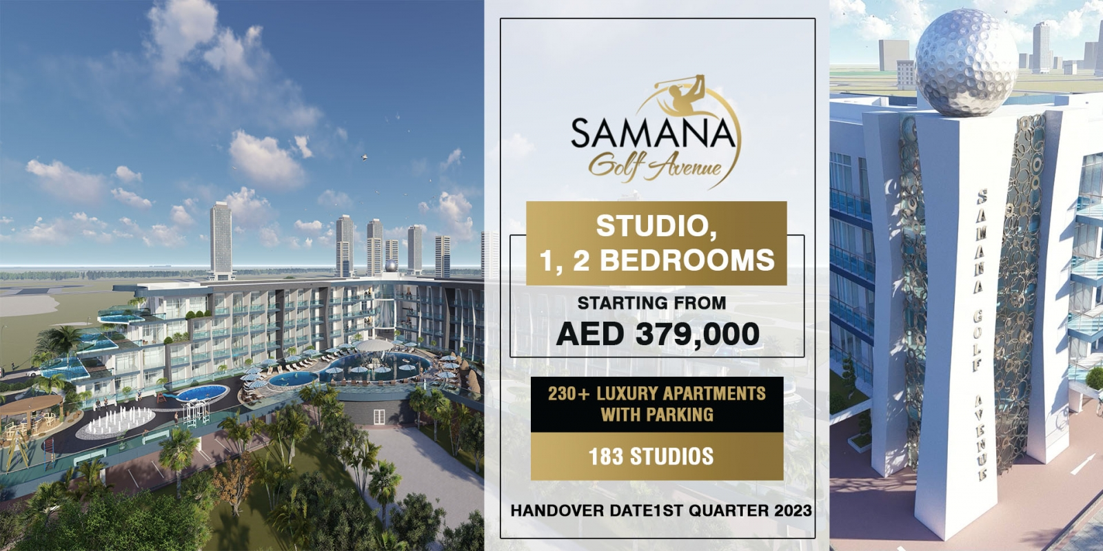 Samana Golf Avenue Dubai Studio city