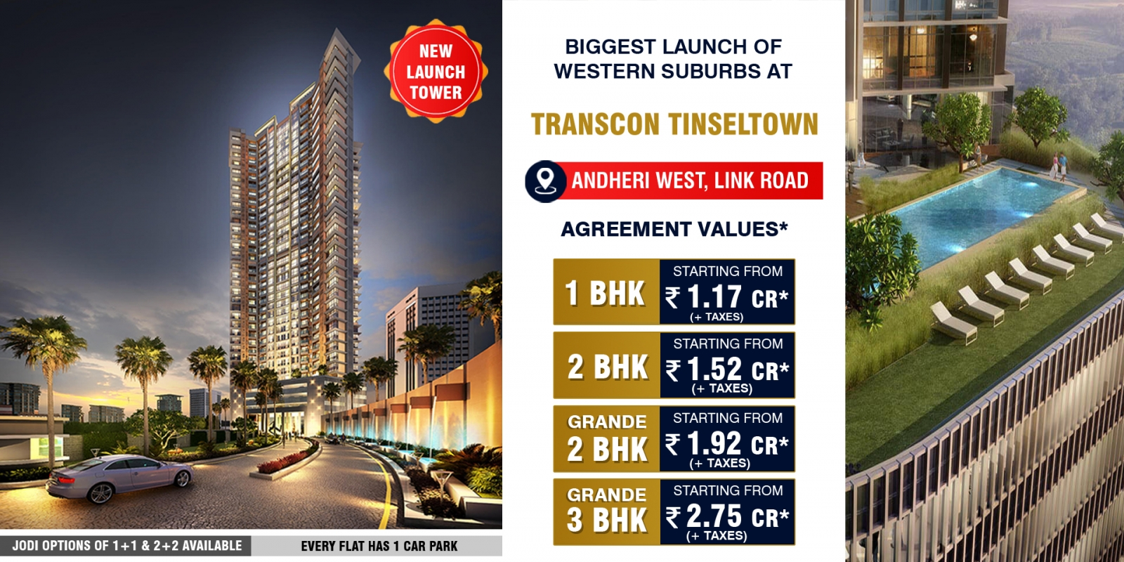 transcon tinseltown andheri west